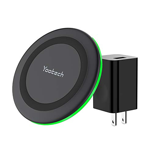 Yootech Wireless Charger, Qi-Certified 10W Max Wireless Charging Pad with QC3.0 AC Adapter, Compatible with iPhone SE 2020/11/11 Pro/11 Pro Max/XR/XS/X/8,Samsung Galaxy S20/Note 10/S10/S9,AirPods Pro