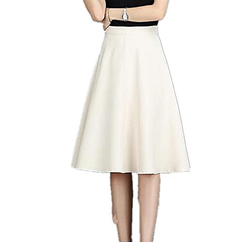 NP Faldas de cintura alta para mujeres otoño desgaste plisado una línea de faldas femeninas casual
