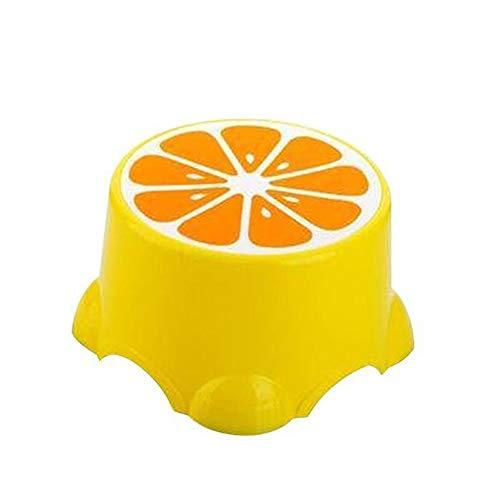 Paddia 4 Colores Espesar Taburetes Encantadores Patrón de Frutas Sala de Estar Banco de baño Antideslizante Taburete para niños Zapatos para Cambiar Taburetes Niños Creativo