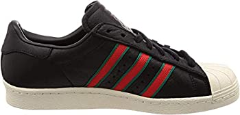 adidas Men s Superstar 80s Sneaker  Core Black/Green/Red Numeric_4_Point_5