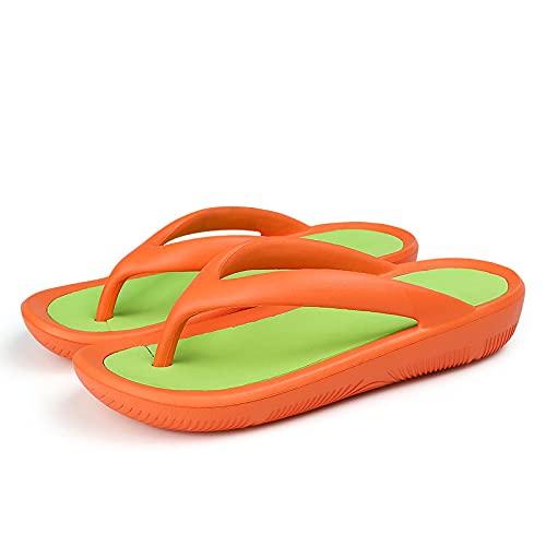 NISHIWOD Zapatillas Casa Chanclas Sandalias Chanclas para Mujer, Nuevas Zapatillas Exteriores, Zapatos Suaves, Informales, Simples, Gruesas, De Fondo, Chanclas, Playa, Planas, 9 Greenorange