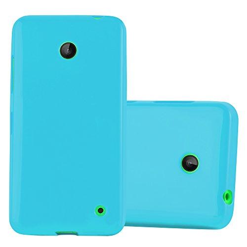 Cadorabo Hülle für Nokia Lumia 630/635 - Hülle in Jelly HELL BLAU – Handyhülle aus TPU Silikon im Jelly Design - Silikonhülle Schutzhülle Ultra Slim Soft Back Cover Case Bumper