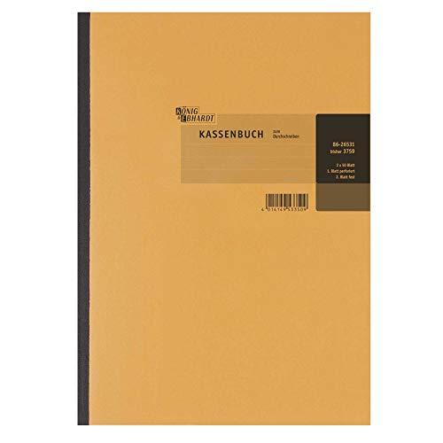 König & Ebhardt 8626531 Kassenbücher (DIN A4, 2 x 50 Blatt) weiß/gelb