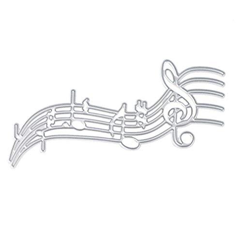 Stanzschablone Musik Note, U-horizon Cutting Dies Musical Notes Metall Schablonen Papierbasteln für DIY Scrapbooking, Fotoalbum Dekoration, Karte, Papier, Geschenk