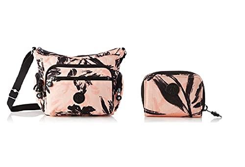 Kipling Gabbie S, Bandolera para Mujer, color Rojo + Tops, Accesorio Billetera de Viaje para Mujer, Coral, Talla única
