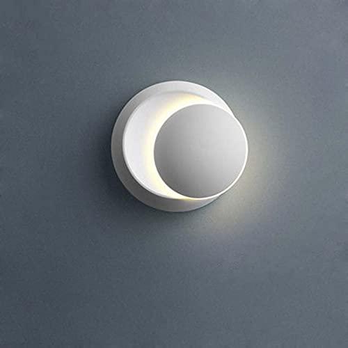 GLYYR LED Lujo Moderno LáMparas de Pared Borla de Cadenade Aluminio Luz del Sofá DecoracióN Cabecera Sala de Estar del Hotel Comedor Pasillo Corredor DiseñO ARC Round E27(Size:B,Color:Blanco)