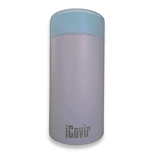Sondermodell Silbergrau iCovir UVC Luftreiniger entfernt 99,9{eef8e44407ba21f3871c79759578cd478c4080d0dc92acb52721be9ff9e696ca} der Viren/Keime. Aerosol Desinfektion mit UV-C-Licht. Osram/Philips UV-C-Röhre ozonfrei, sichere geschlossene UV Lampe.
