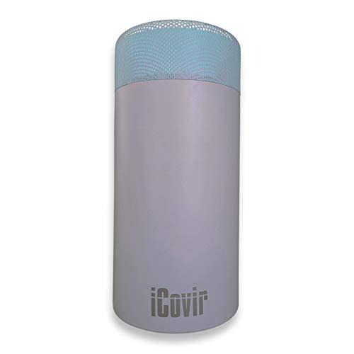 Sondermodell Silbergrau iCovir UVC Luftreiniger entfernt 99,9{6f8ae4d1a37d67048ff6af090819c6288cd6a90ea5f45477414fbe67e4041267} der Viren/Keime. Aerosol-Desinfektion mit UV-C-Licht. Osram/Philips UV-C-Röhre ozonfrei, Umwelt freundlich. Sichere geschlossene UV Lampe