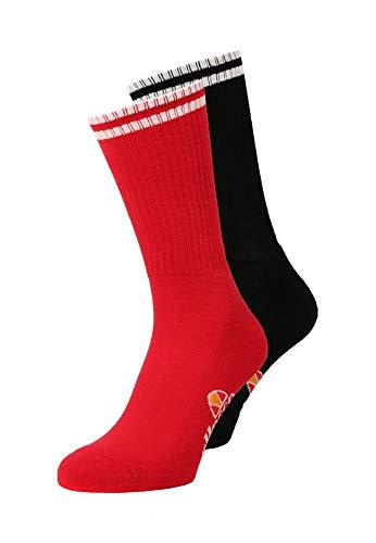 ellesse Socken TOMMI 2PK SAAY0624 Schwarz Rot Black, Size:41-46