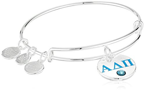 Alex and Ani Women's Color Infusion Alpha Delta Pi II EWB Bracelet, Shiny Silver, Expandable