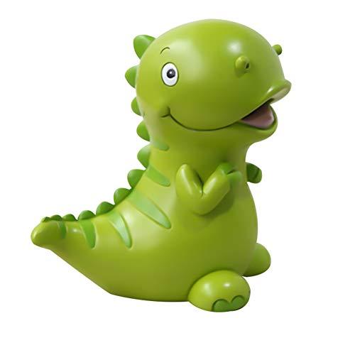 Esplic Sparschwein für Kinder - 6 x 6 Zoll schöne grüne Dinosaurier geformt große Größe Harz Money Bank - Münze Aufbewahrungsbox für Kinder Jungen Mädchen Artwork Home Interior Dekoration