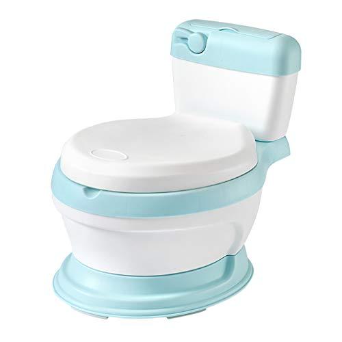 XLGX 3-in-1 Abattant Toilette Siège de Toilettes Trainer Pot WC pour Chaise Bébé Enfants Bebe (Bleu)
