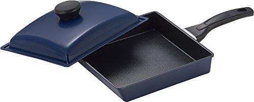 ヨシカワ(Yoshikawa) 角型パン ブラック 39×22.5×4.8cm 蓋付き IH対応 SJ2586