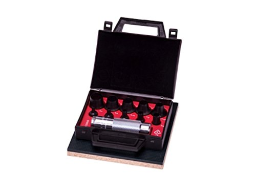 Allpax AX1300 - Kit de perforación hueca (11 piezas, mango moleteado, acero)