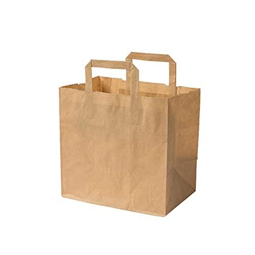 ZERAY Papiertüten mit Deutsche Markenqualität. papptüten. geschenktüte. geschenktüten. papptüten mit henkel. tüten. kraftpapier tüten.Einkaufstasche. Tragetasche. (26x17x25 cm, Braun, 25)