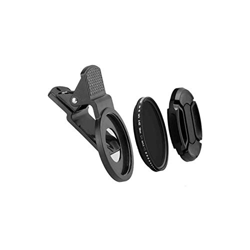 Cellphone Camera Lens Filter, 37mm Clip-on ND 2-400 Cellphone Camera Lens   Adjustable Density Filter with Phone Clip for iPhone for Samsung Android Smartphones