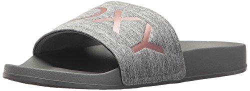 Roxy Women's Slippy Slide Sandal Sport, Grey, 9 M US