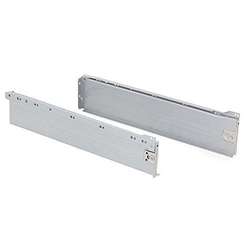 Emuca 3058425 Kits de Cajón H118, Gris Metalizado, 500mm