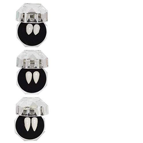Ububiko Halloween Dientes de Vampiro Juego de Roles Dientes de Vampiro Disfraz Dientes dentaduras Vampiro denticin