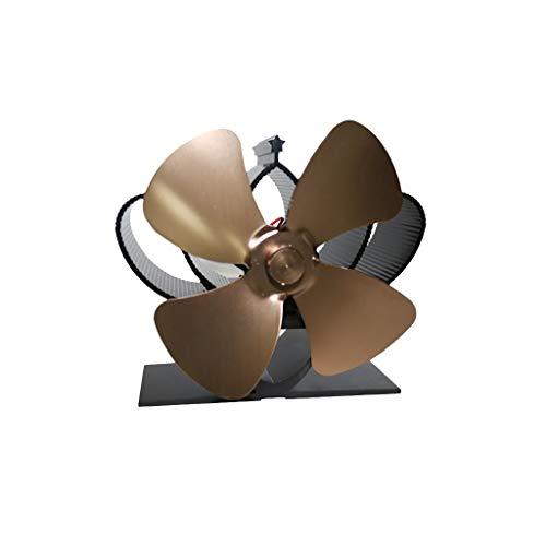 Stromloser Ventilator für Kamin, Kamin- Ventilator Ofenventilator Feuerstelle Kaminöfen Heizlüfter Holzöfen Öfen, mit 4/5 Rotorblätter Optional wärmebetriebener Ofen-Ventilator Kaminventilator (G)