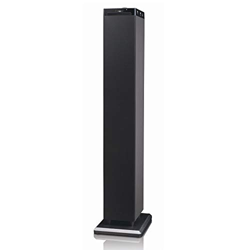 Majestic TS 92R CD BT USB AX - Altoparlanti a torre con Bluetooth NFC, Lettore CD/MP3, doppia USB, ingresso AUX-IN, telecomando, Nero