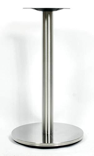 Tischgestell 72cm Tischfuß Edelstahl runder Fuß Modell Saarbrücken