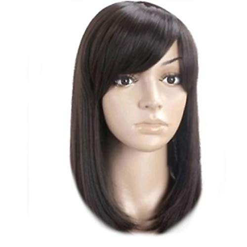 ALIZZ Dark Brown Full Hair Head Wig for Bald Kids , Young Girls