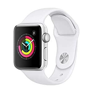 Fashion Shopping Apple Watch Series 3 (GPS, 38mm) – Silver Aluminum Case with White Sport Band