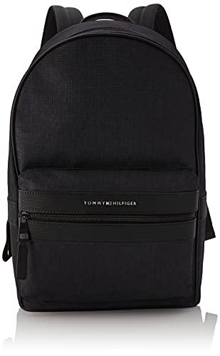 Tommy Hilfiger Elevated Nylon Backpack, Sac Dos Homme, Noir, Medium