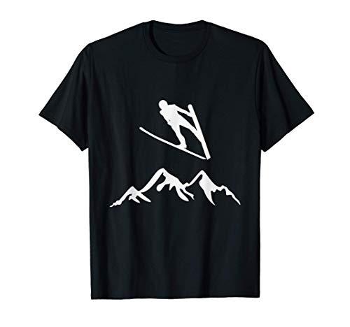 Skifliegen Wintersport, Skispringen T-Shirt