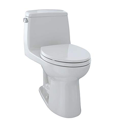 TOTO MS854114E#11 Eco Ultramax Elongated One Piece Toilet, Colonial White
