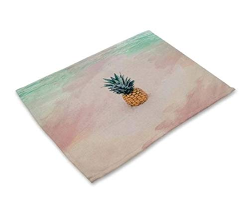 1 Pcs Rectangle Pineapple Europe Pattern Placemats Best Popular Place Mats Dinning Table Sets Non Slip Kids Learning Food Plates Washable Kitchen Room Tool Holiday Decorations, Type-01