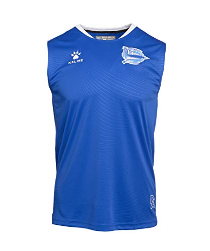 Deportivo Alavés Entrenamiento Jugador Camiseta, Adultos Unisex, Azul, L