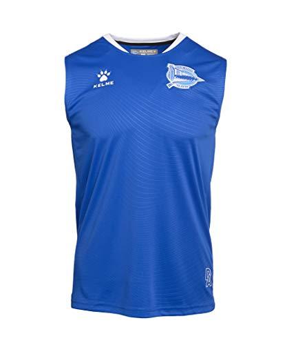 Deportivo Alavés Entrenamiento Jugador Camiseta, Adultos Unisex, Azul, M