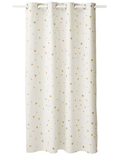 Vertbaudet Vorhang, blickdicht, Sterne, 135 x 260 cm, Weiß