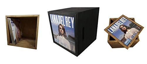 Holz-Kiste mit Griffen – 12inch Box mit Cover Deckel 60+ LPs