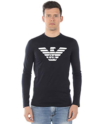 Emporio Armani - Herren-T-Shirt 8N1T641JNQZ 8N1T64 1JNQZ BLAU S