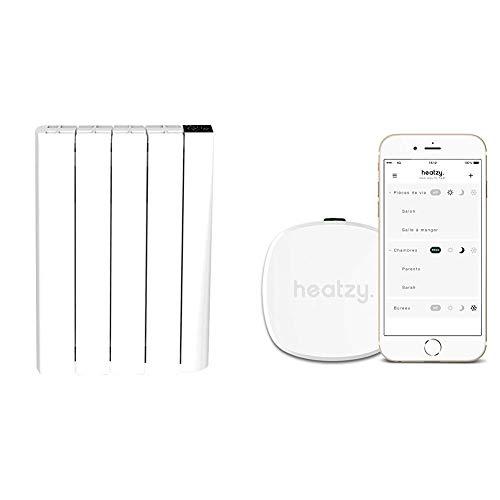 Blanc Brillant Cayenne NELIA10 NELIA Radiateur /à inertie 1000 W