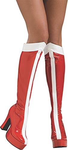 Rubies \'s Oficial Wonder Woman Botas de caña Alta – Ladies Adult Costume Large 8 – 9 años
