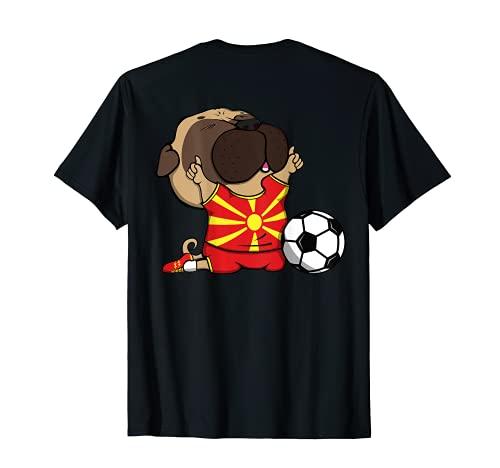 Pug Macedonia Los Amantes Del Ftbol Jersey Macedonian Fans Camiseta