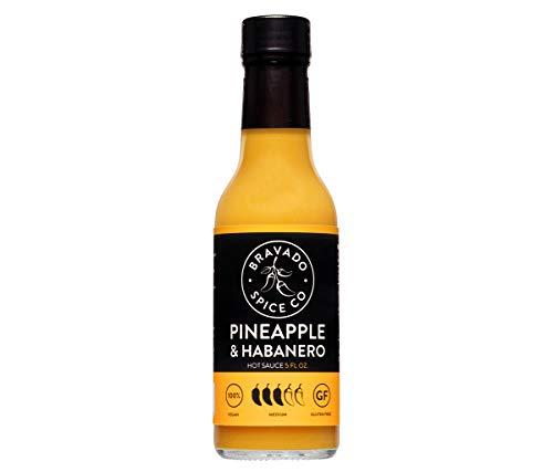 Pineapple And Habanero Hot Sauce By Bravado Spice Gluten Free, Vegan, Low Carb, Paleo Hot Sauce All Natural 5 oz Hot Sauce Bottle Award Winning Gourmet Hot Sauce