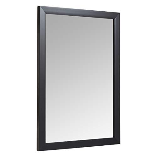 Amazon Basics Espejo para pared rectangular, 50,8 x 71,1 cm - marco estándar, negro
