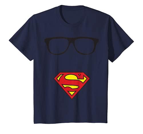 Niños US DC Superman +Logo Gafas 01 Colores - Niños Camiseta