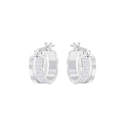 Swarovski Graceful pendientes de aro pendientes–color blanco–5292679