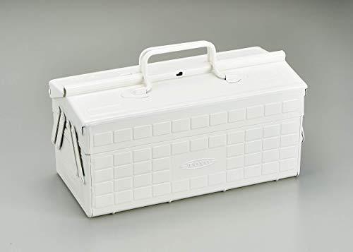 TOYO スチール製2段式工具箱 ST-350W (白)