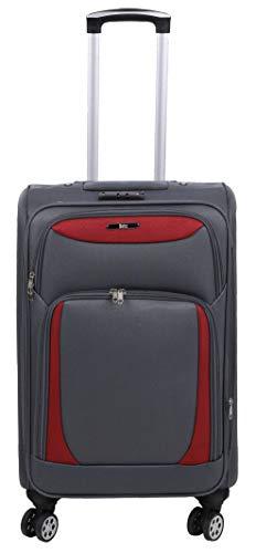 Betz Valigia Pratica e Leggera Valigia di Viaggio Dimensione 42x56x32 cm Colore Grigio/Rosso