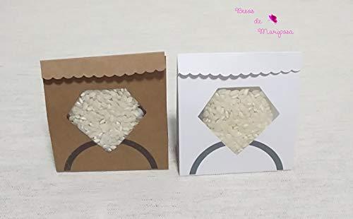 Arroz para bodas. 50 cajas/sacos de papel para presentar el arroz en...
