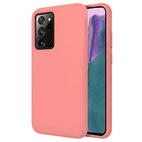 TBOC Funda Compatible con Samsung Galaxy Note 20 Ultra - Note 20 Ultra 5G [6.9'] Carcasa Rígida [Rosa] Silicona Líquida Premium [Tacto Suave] Forro Interior Microfibra Protege Cámara