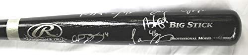 Detroit Tigers 2018 Team Autographed Signed Rawlings Black Baseball Bat - 16 Autographs