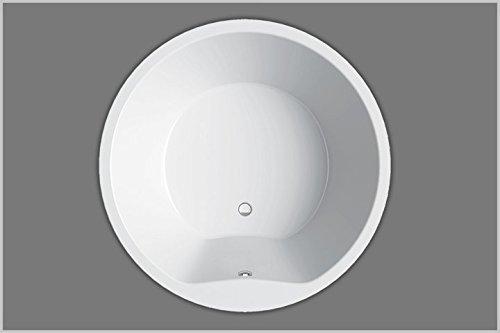 Badewanne Acryl 160 x 160, aus Acryl, rund, Farbe weiß